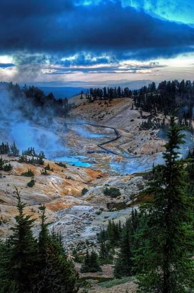 Lassen Volcanic Park, dans le nord de la Californie