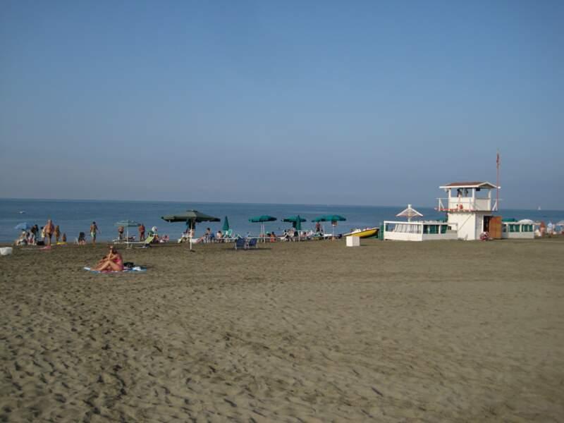 La plage d'Ostia