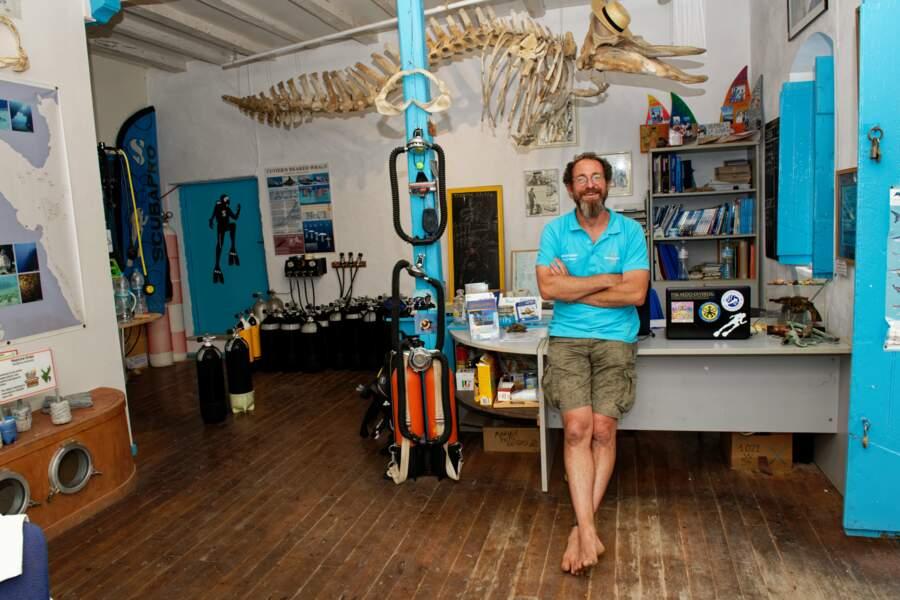 Cédric Georges, propriétaire du club de plongée de Fiskardo