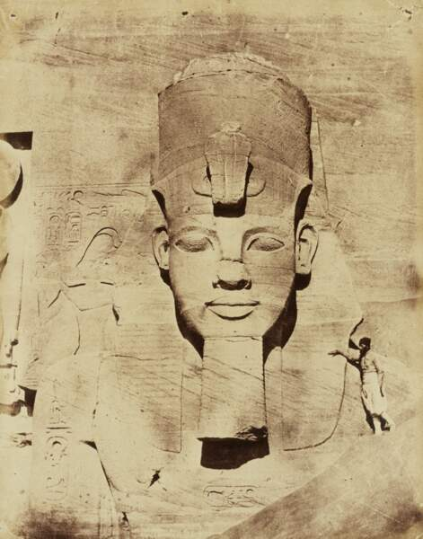 Colosse du spéos de Phré, Ibsamboul (devenu Abou Simbel), Egypte, 1850