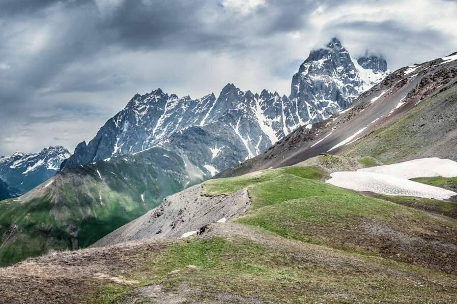 Dans les hautes montagnes