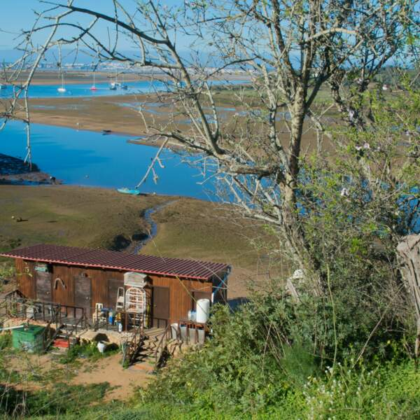 La cabane de pêcheur, baie d'Alvor
