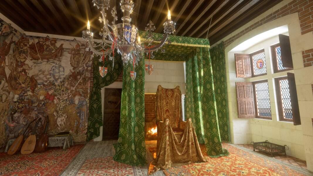 Blois : la grande salle de l'aile Louis XII