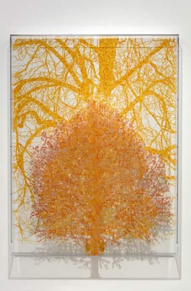Charles Gaines, Tree #2, Michael, série Tiergarten, 2018