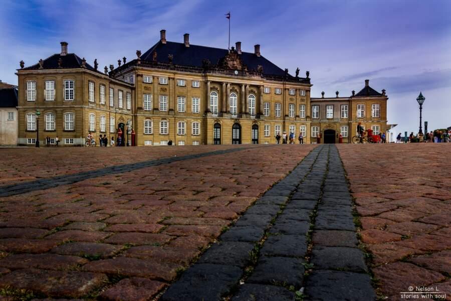 Le palais d'Amalienborg, résidence royale
