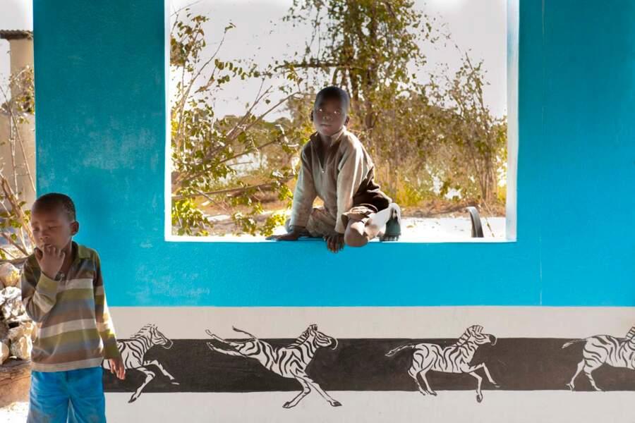 École dans le delta de l'Okavango