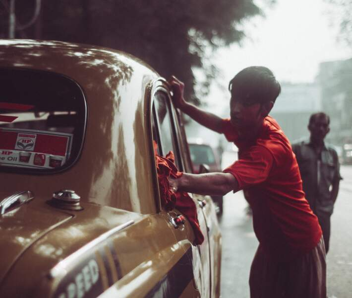 Un laveur de voiture