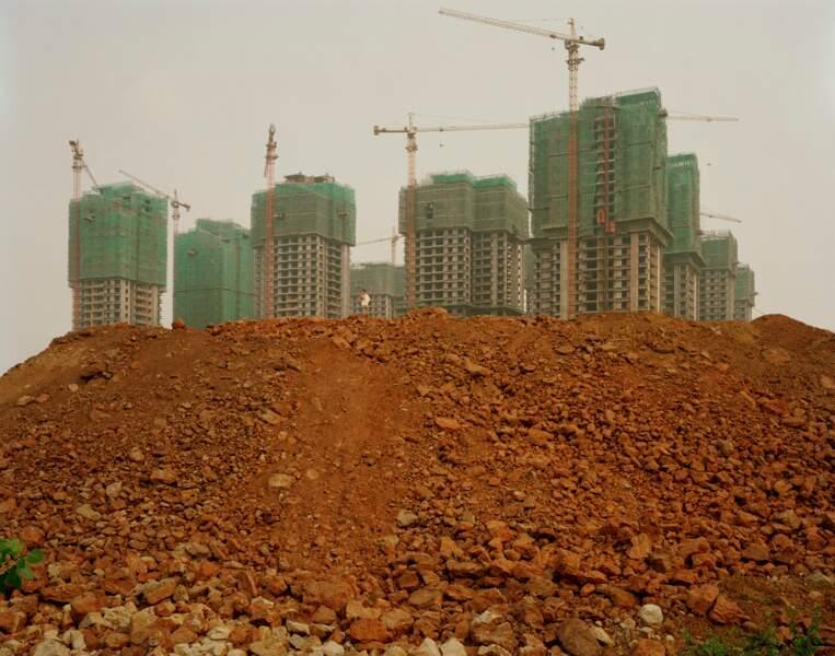 """Urbanisation galopante dans la ville de Chongqing, série sur """"Yangtze, The Long River"""", 2006-07"""