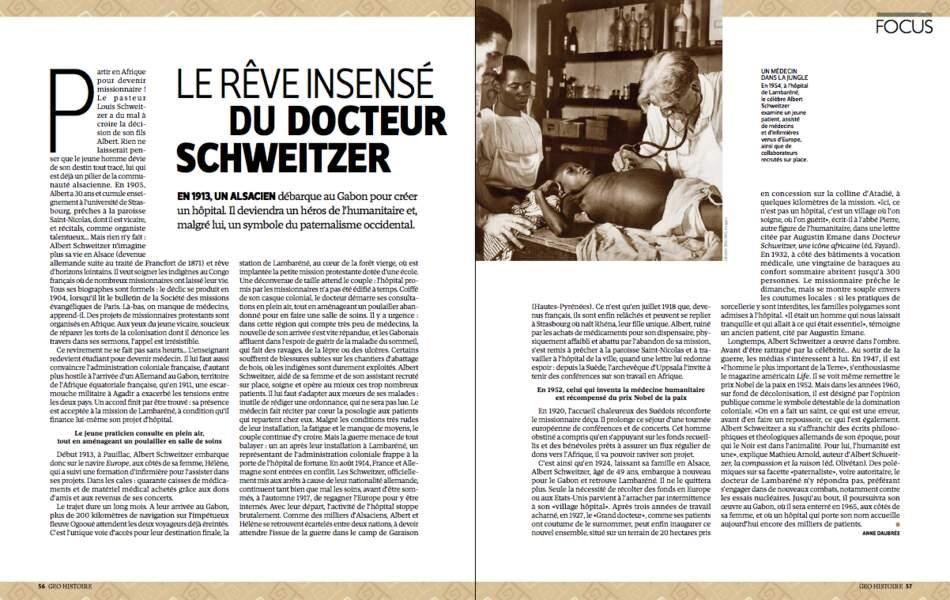 Le rêve insensé du docteur Schweitzer