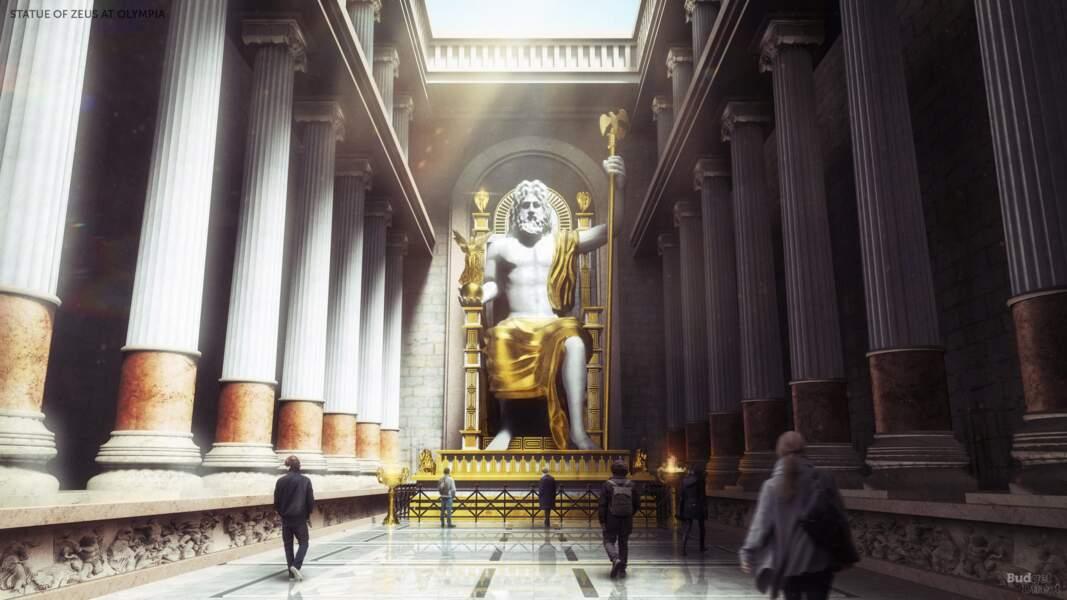 6 - La statue chryséléphantine de Zeus à Olympie