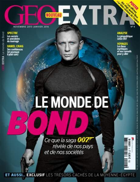 """Découvrez """"Le monde de Bond"""" dans GEO Extra, actuellement chez votre marchand de journaux"""