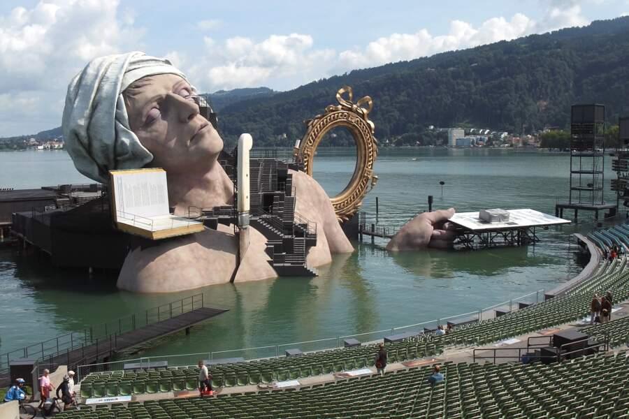 L'opéra sur pilotis, à Bregenz