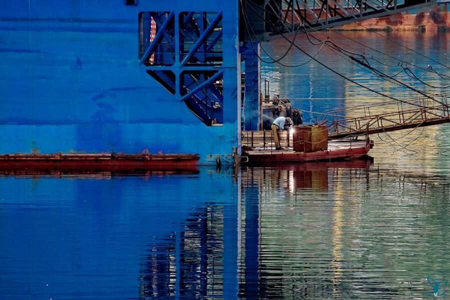 Port de Mourmansk, mer de Barents (Fédération de Russie)