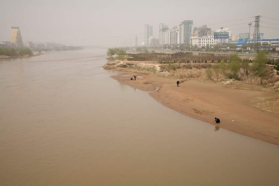"""Fleuve Jaune en détresse, série sur le """"dust bowl"""" chinois, 2006-07"""