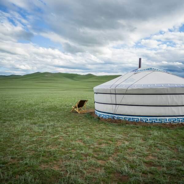 La Yourte, habitat traditionnel des nomades (extérieur)