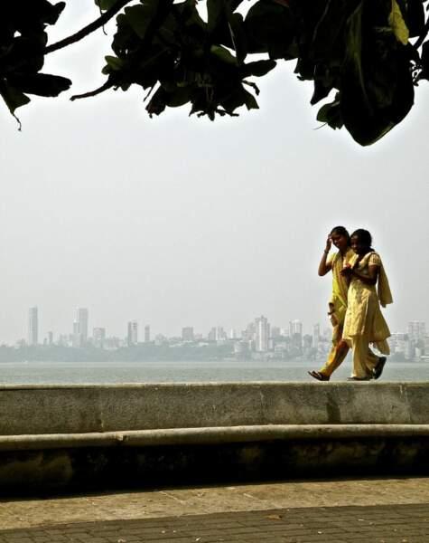 Photo prise à Bombay (Inde) par le GEOnaute : skirart