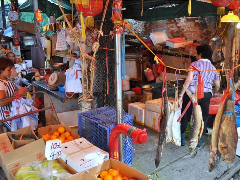 Boutique de pêcheurs à Tai O