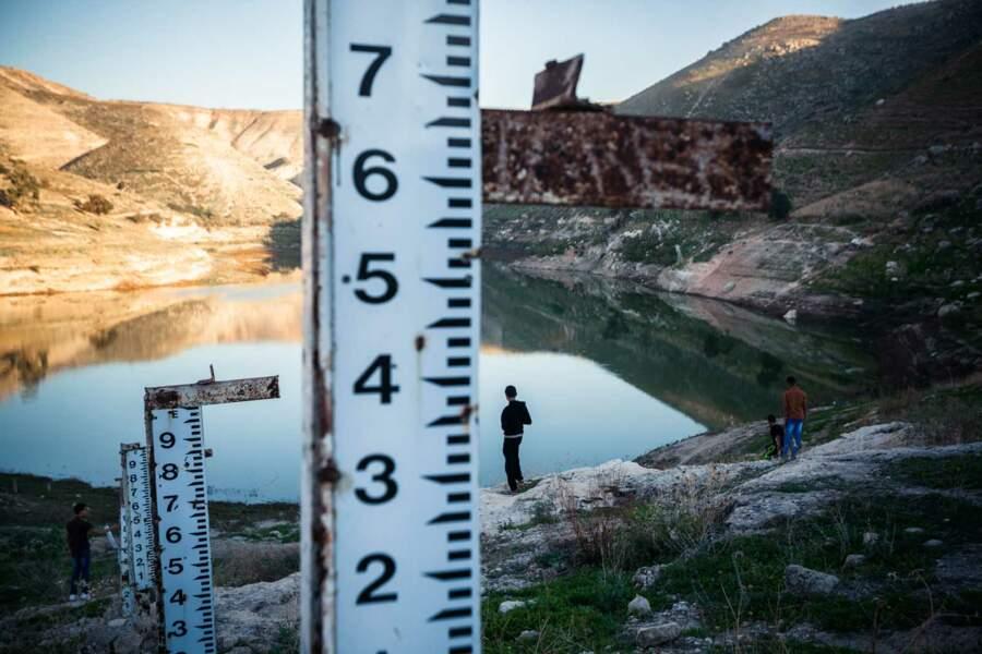 Un lac presque à sec