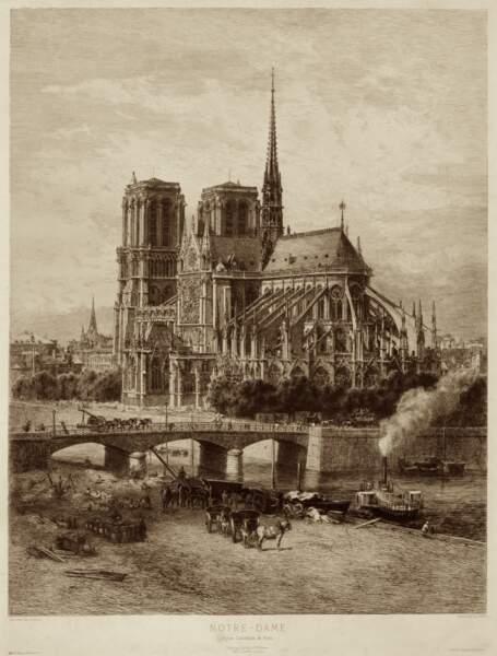 1163 : Pose de la première pierre de Notre-Dame
