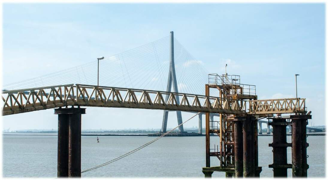 Photo prise près du Pont de Normandie par le GEOnaute : photopen
