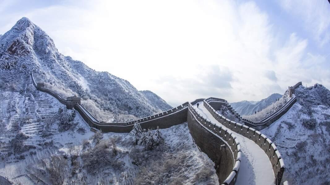 Tianjin, Chine : une légende sous la neige