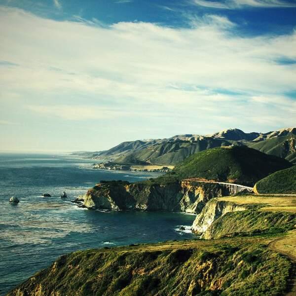 Big Sur, sur la côte pacifique en Californie