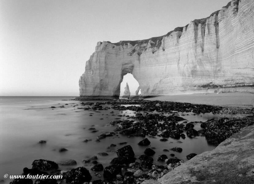 Photo prise à Etretat (Haute-Normandie) par le GEOnaute : fautrier