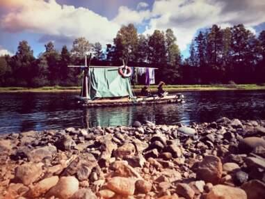 Suède : on a descendu la rivière Klarälven en famille sur un radeau