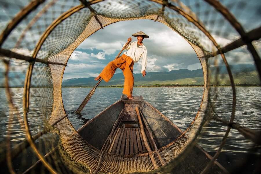Carte postale de Birmanie depuis le lac Inle