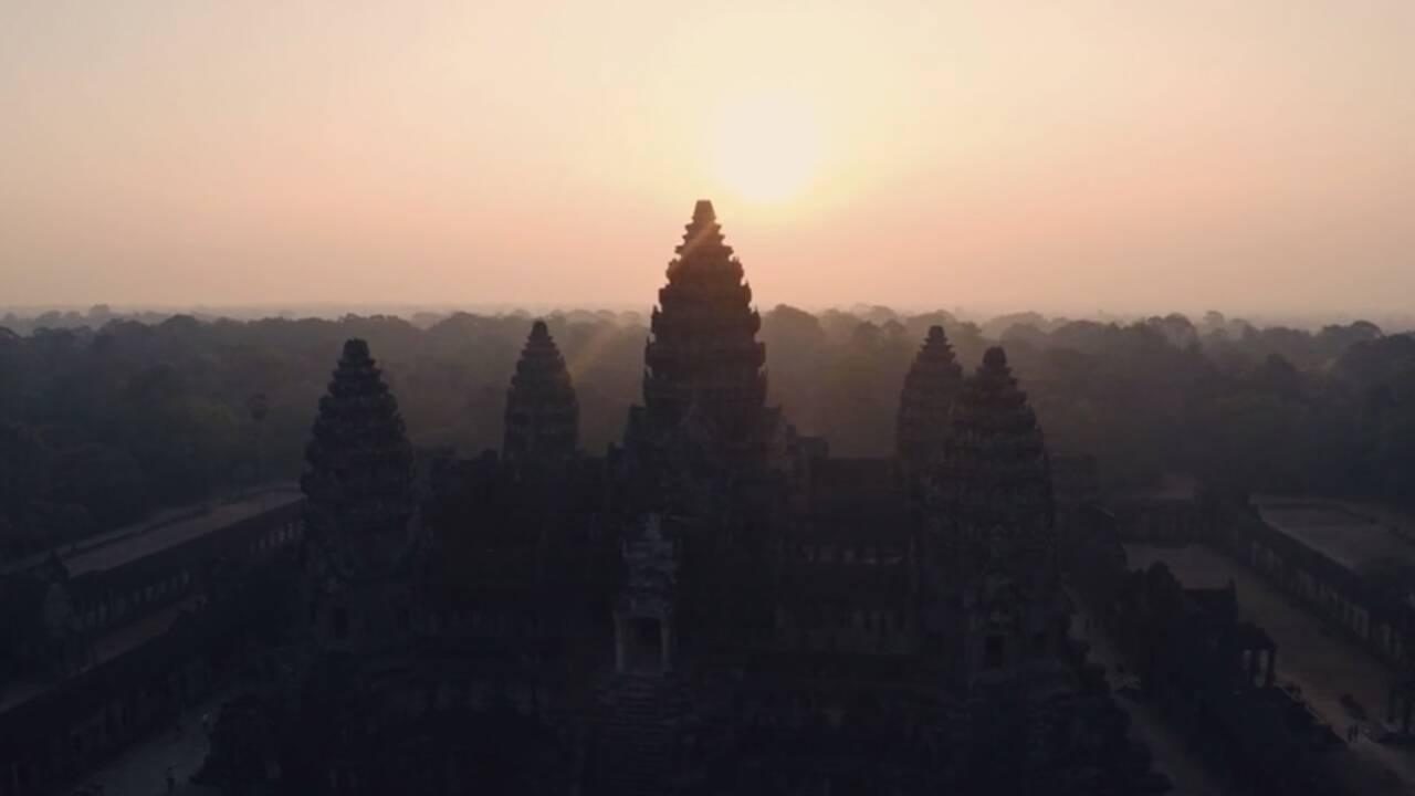 VIDÉO : Les joyaux d'Angkor vus du ciel