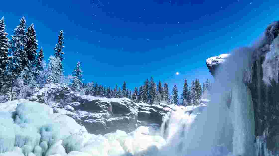 VIDÉO : En Suède, la magie de l'hiver vue du ciel