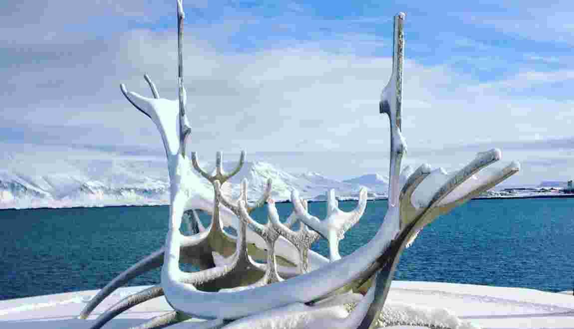 PHOTOS - Islande : chutes de neige historiques à Reykjavík
