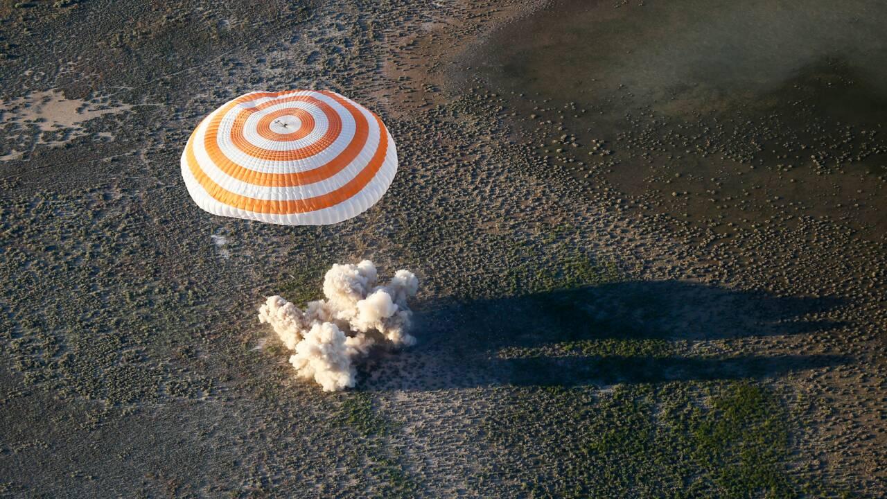 """Pesquet: un atterrissage comme un """"petit accident de voiture"""""""