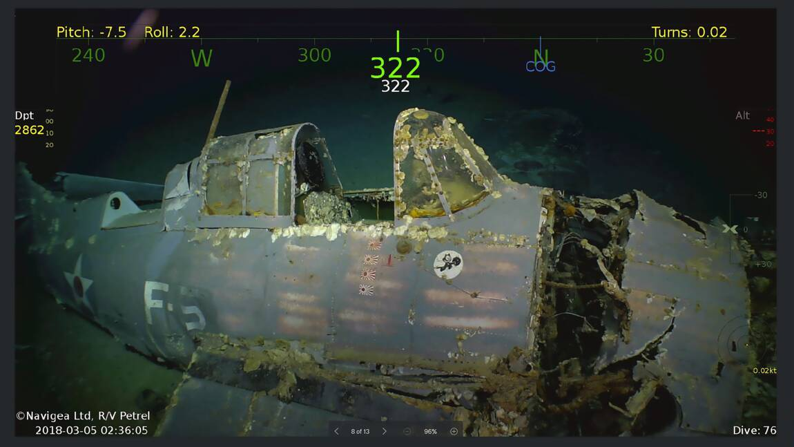 Découverte de l'épave du porte-avions américain USS Lexington
