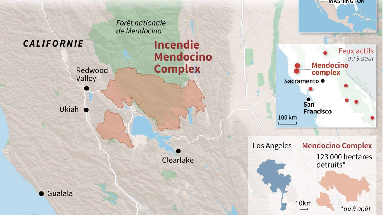 Les vastes incendies rendent l'air vicié dans une partie de la Californie