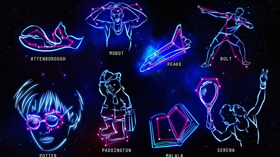 Des constellations inspirées par des stars pour inciter les enfants à les observer