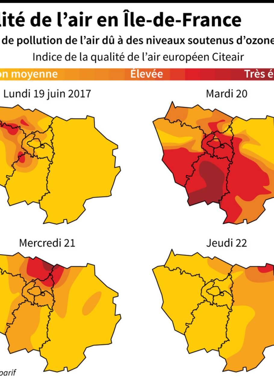 Pollution en Ile-de-France: ticket à tarif réduit jeudi