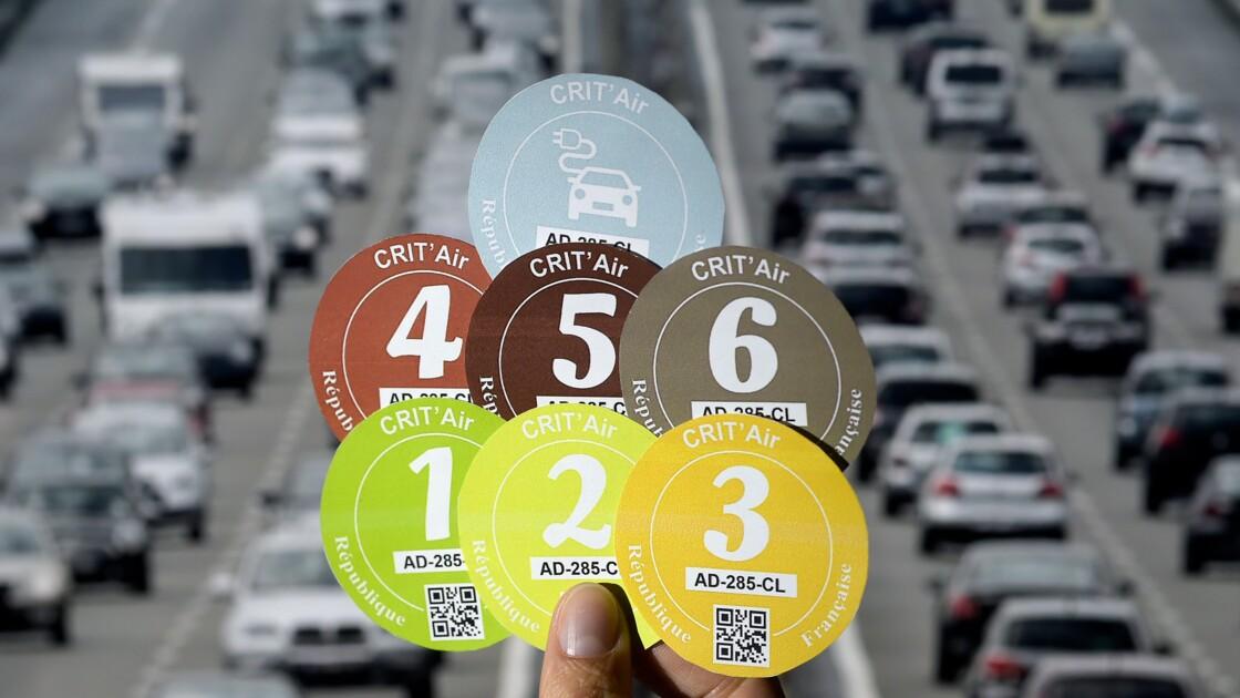 Pollution: 5 millions de véhicules équipés de vignettes