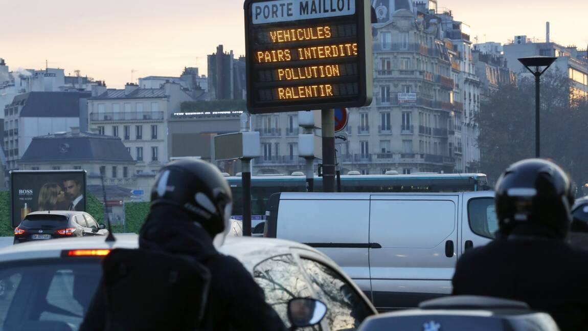 Pollution à Paris: circulation alternée et transports gratuits