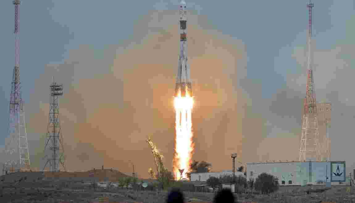 Deux Russes et un Américain en route vers l'ISS à bord d'une fusée Soyouz