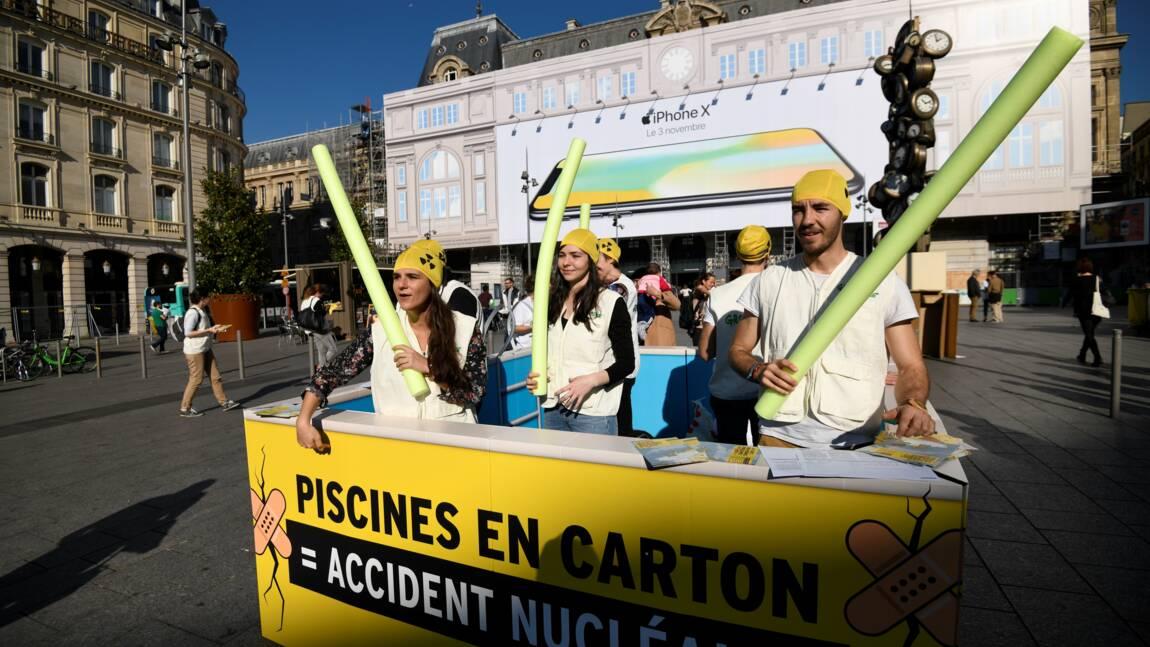 """""""Piscines en carton"""": Greenpeace critique la sécurité des centrales nucléaires"""