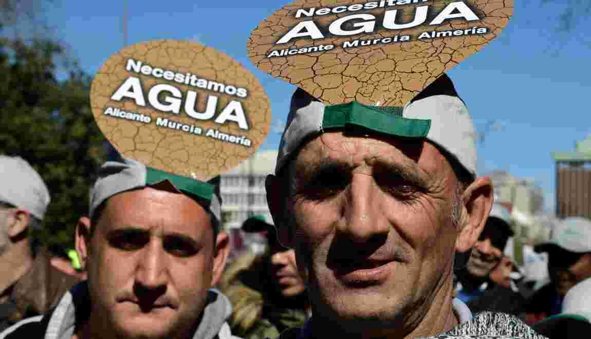 Sécheresse: des milliers d'agriculteurs espagnols manifestent pour des aides
