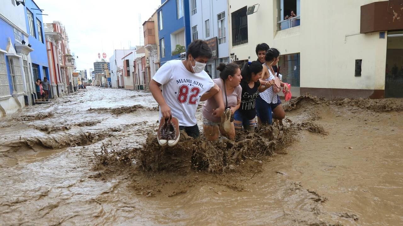 Pluies diluviennes et inondations au Pérou: 75 morts