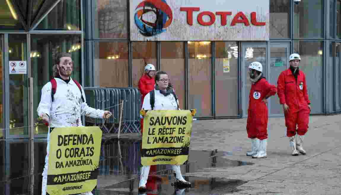 Projet Total au Brésil: de la mélasse déversée devant son siège