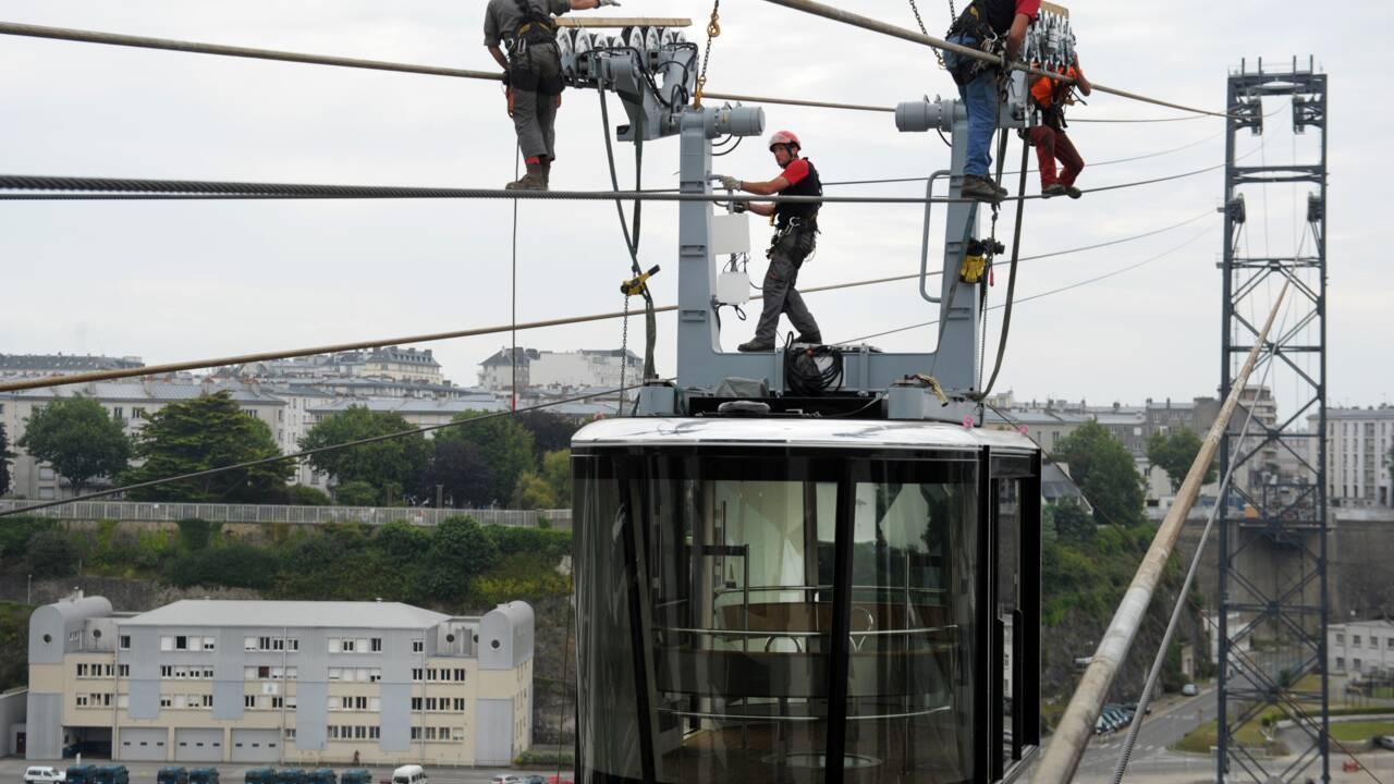 Pannes à répétition pour le tout nouveau téléphérique de Brest