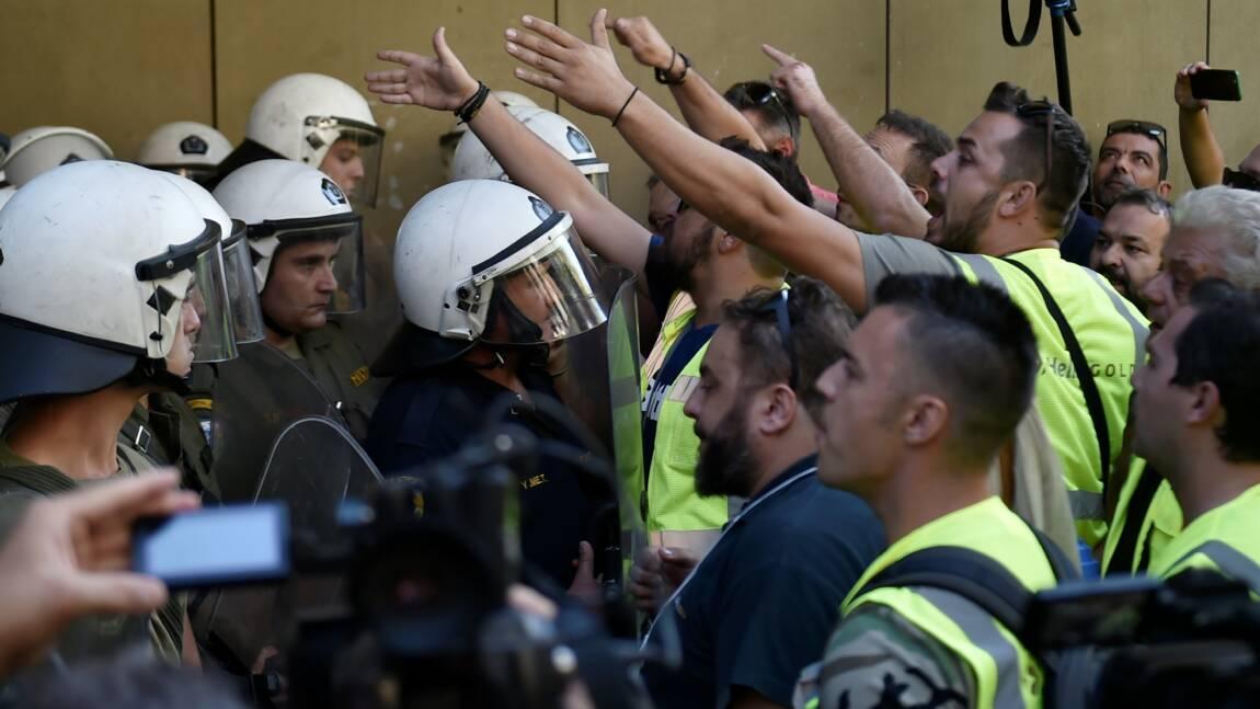 Grèce: manifestation d'employés des mines d'Eldorado Gold