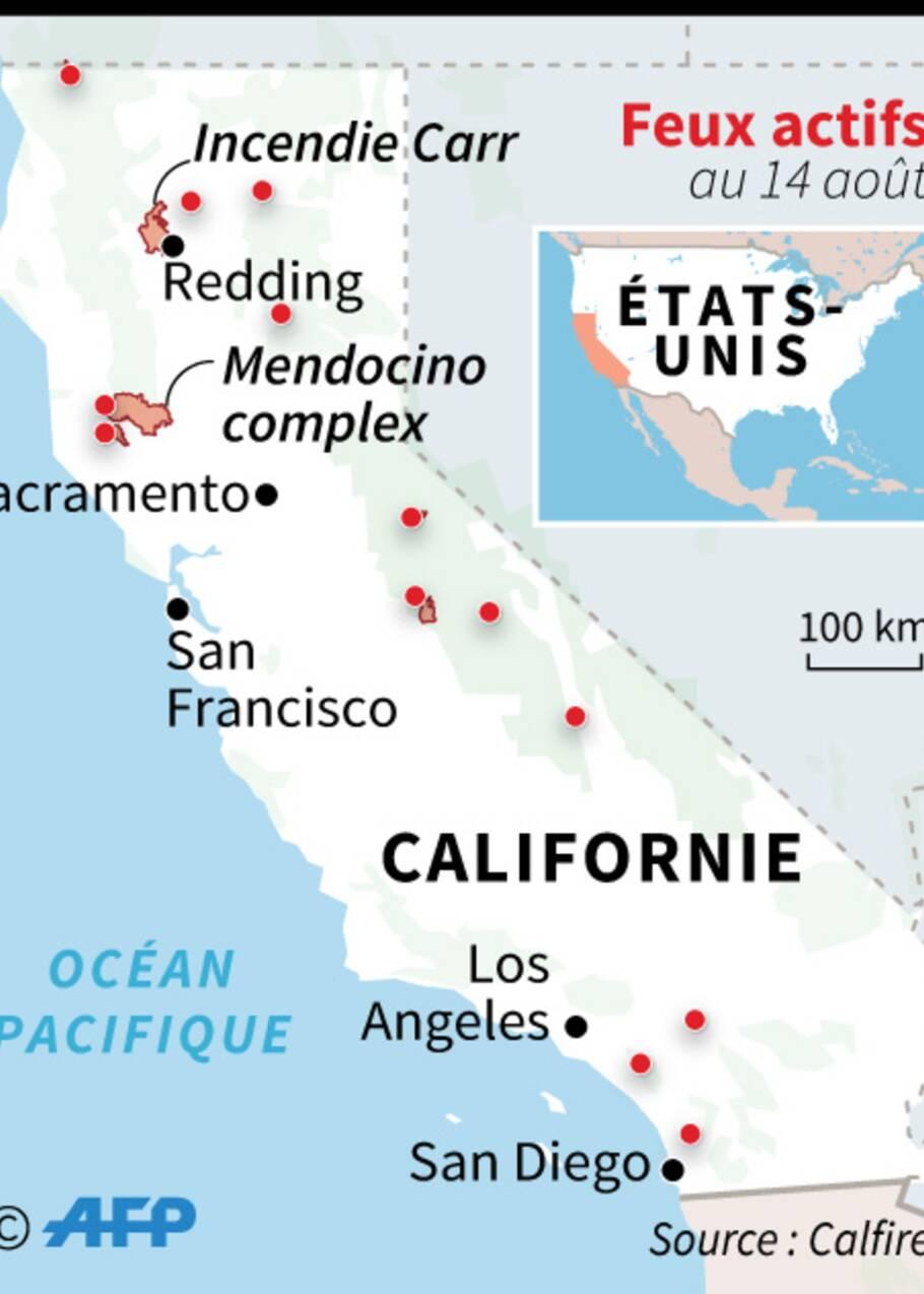 Des ministres de Trump en visite sur le site d'un incendie en Californie