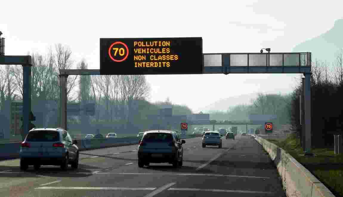 Pollution: maintien des restrictions de circulation à Grenoble vendredi