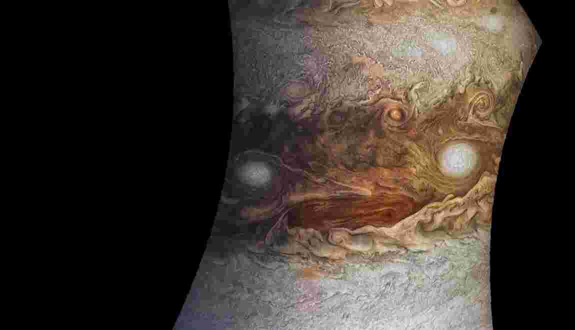 La sonde américaine Juno s'apprête à survoler la Grande Tache rouge de Jupiter