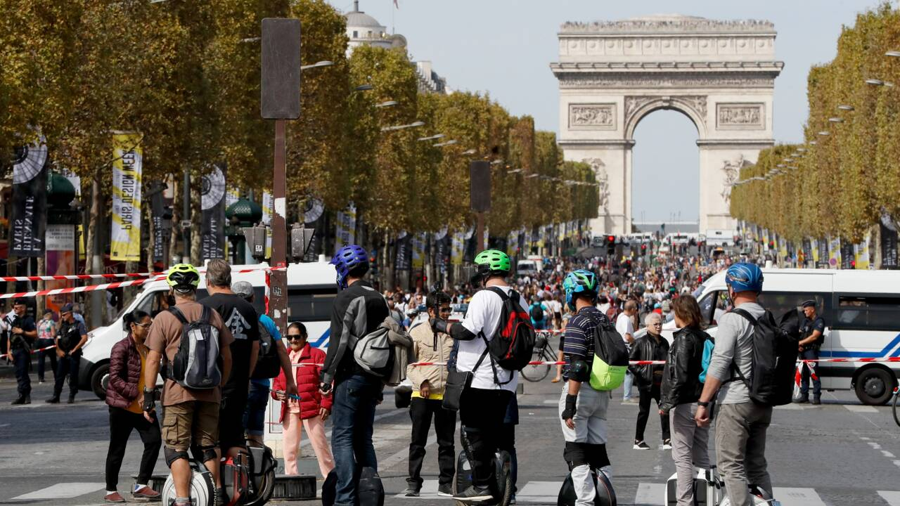 Paris sans voiture: moins de dioxyde d'azote pour le grand bonheur des piétons
